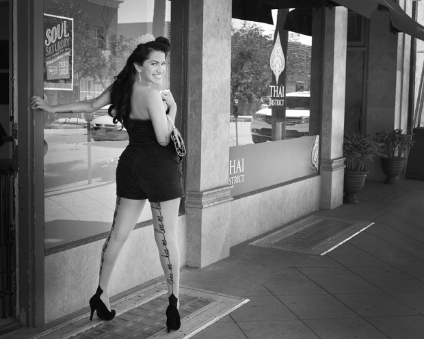 Pinup Pamela in Downtown Long Beach
