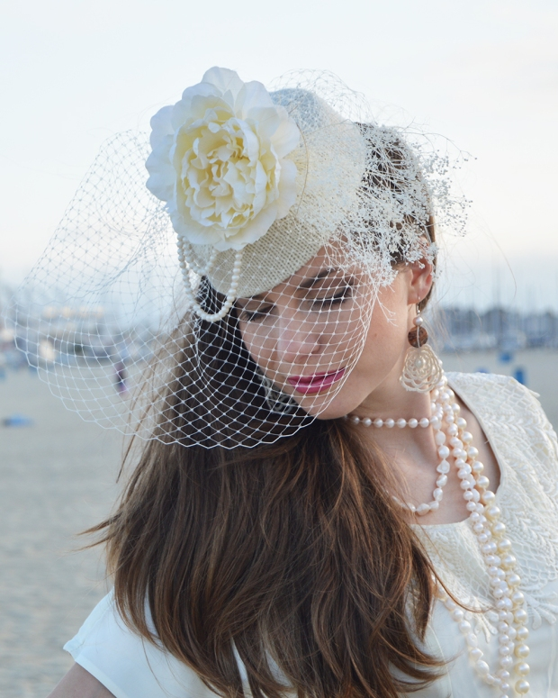 The Galen Bridal Hat by White Purls