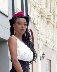 Meet Daeon!  Photographed at the La Fayette in Long Beach while wearing the Angelina Hat in Fuchsia by White Purls