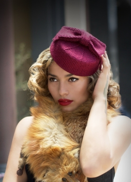 pillbox hat with bow
