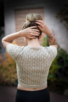 Back View of La Coquette Blouse